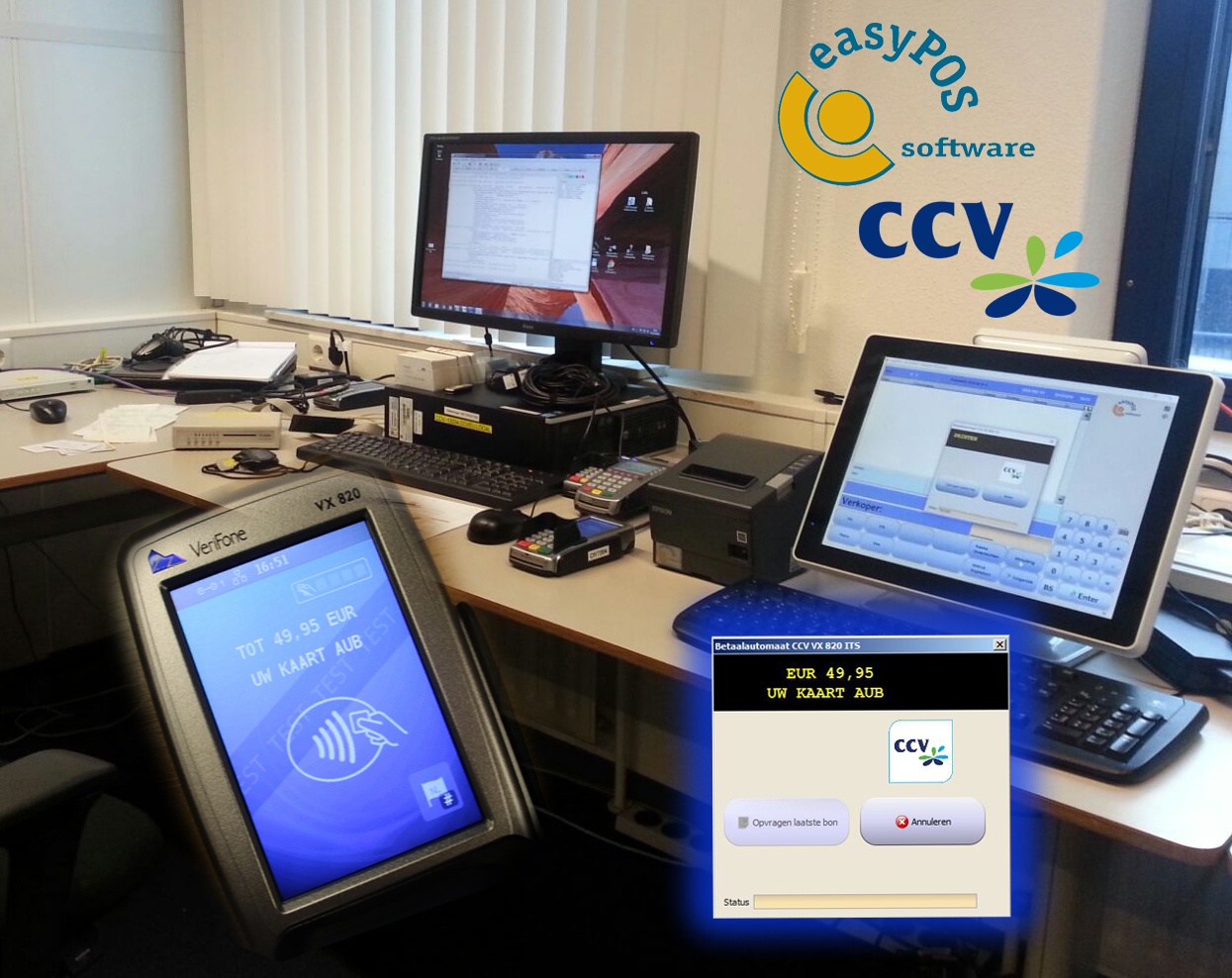easyPOS behaalt CCV-certificering voor nieuw model VX820 ITS
