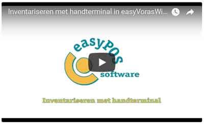 Inventariseren met handterminal in easyVorasWindows