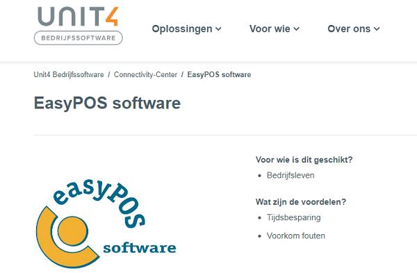 Export koppeling met boekhoudsoftware Unit4 Multivers