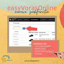 NIEUW: easyVorasOnline uitgebreide zoekfunctie