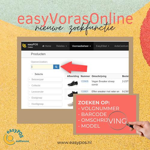 Nieuwe zoekfunctie easyVorasOnline